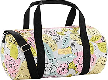 Flowers Ring Watercolor Travel Lightweight Waterproof Foldable Storage Carry Luggage Large Capacity Portable Luggage Bag Duffel Bag