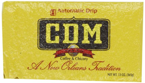 (CDM Coffee and Chicory, Regular Grind, 13-Ounce Bricks Automatic Drip (Pack of 4) )