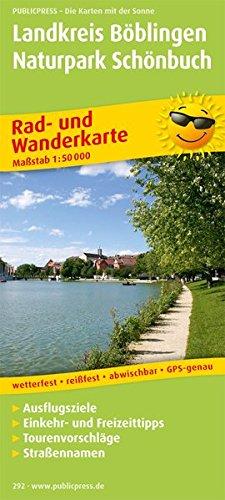 Landkreis Böblingen - Naturpark Schönbuch: Rad- und Wanderkarte mit Ausflugszielen, Einkehr- & Freizeittipps, wetterfest, reißfest, abwischbar, GPS-genau. 1:50000 (Rad- und Wanderkarte / RuWK)