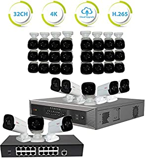 Revo America Ultra Plus Commerical Grade 32 Ch. 8TB HDD 4K NVR Video Security System, 32 x 4MP Indoor/Outdoor IP Bullet Cameras - Remote Access via Smart Phone, Tablet, PC & MAC (B01N6J4DX3) | Amazon price tracker / tracking, Amazon price history charts, Amazon price watches, Amazon price drop alerts