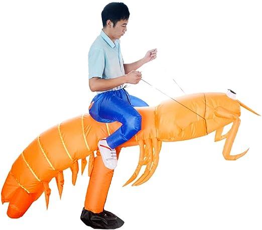 Amazon.com: Disfraz hinchable de camarón naranja de ...
