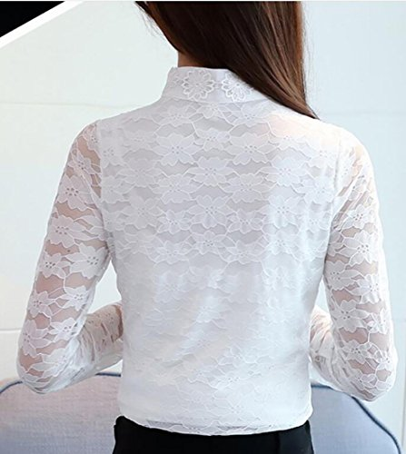 Womens TTYLLMAO Tops Long Sleeve Stand Lace Winter Collar 4 Blouse Flare Warm dAZAxr7w