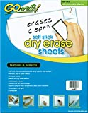 GoWrite! PACASB8511 Self-Adhesive Dry Erase Sheets, White, 8-1/2' x 11', 30 Sheets