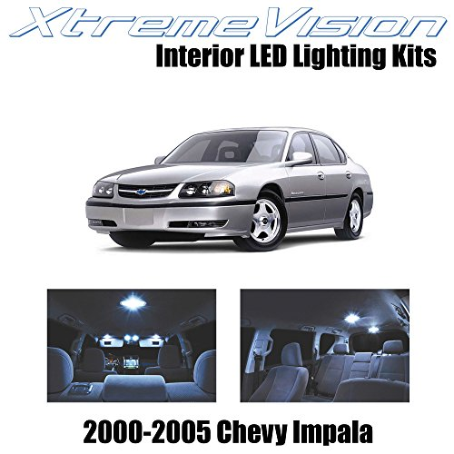 XtremeVision Chevy Impala 2000-2005 (16 Pieces) Cool White Premium Interior LED Kit Package + Installation Tool Tool - White Chevy Impala