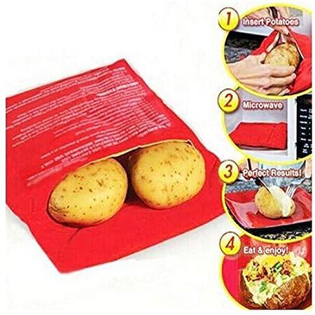 FIOLTY 1PC Rojo Microondas Patata Bolsa Hornear Cocinar ...