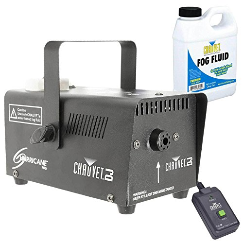 Chauvet H-700 Hurricane 700 Halloween Fog/Smoke Effect Machine + Fluid + Remote (Halloween Smoke Machine)