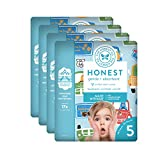 The Honest Company Baby Diapers with Trueabsorb Technology, Farm Fresh, Size 5, 80 Count