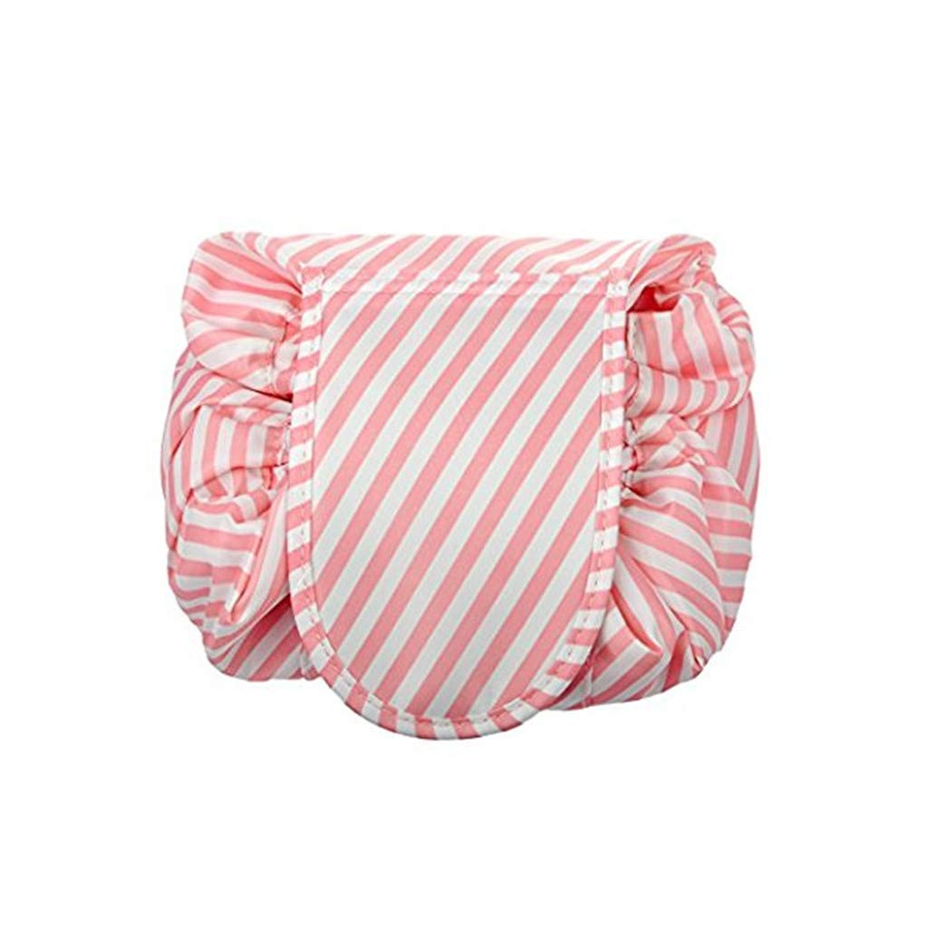 Toiletry Bag Travel bag, Portable Fashion Drawstring Cosmetic Bag Large Capacity Waterproof Travel Makeup Pouch Magic Bag for Womens Girls, Pink WJood Store