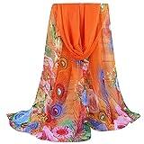 Shawl, New Lady Long Soft Wrap Silk Chiffon Scarf Scarves (X_Orange)