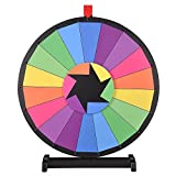 WinSpin® 24'' Tabletop Editable Color Prize Wheel 18 Slot Spinning Game with Dry Erase Tradeshow Carnival