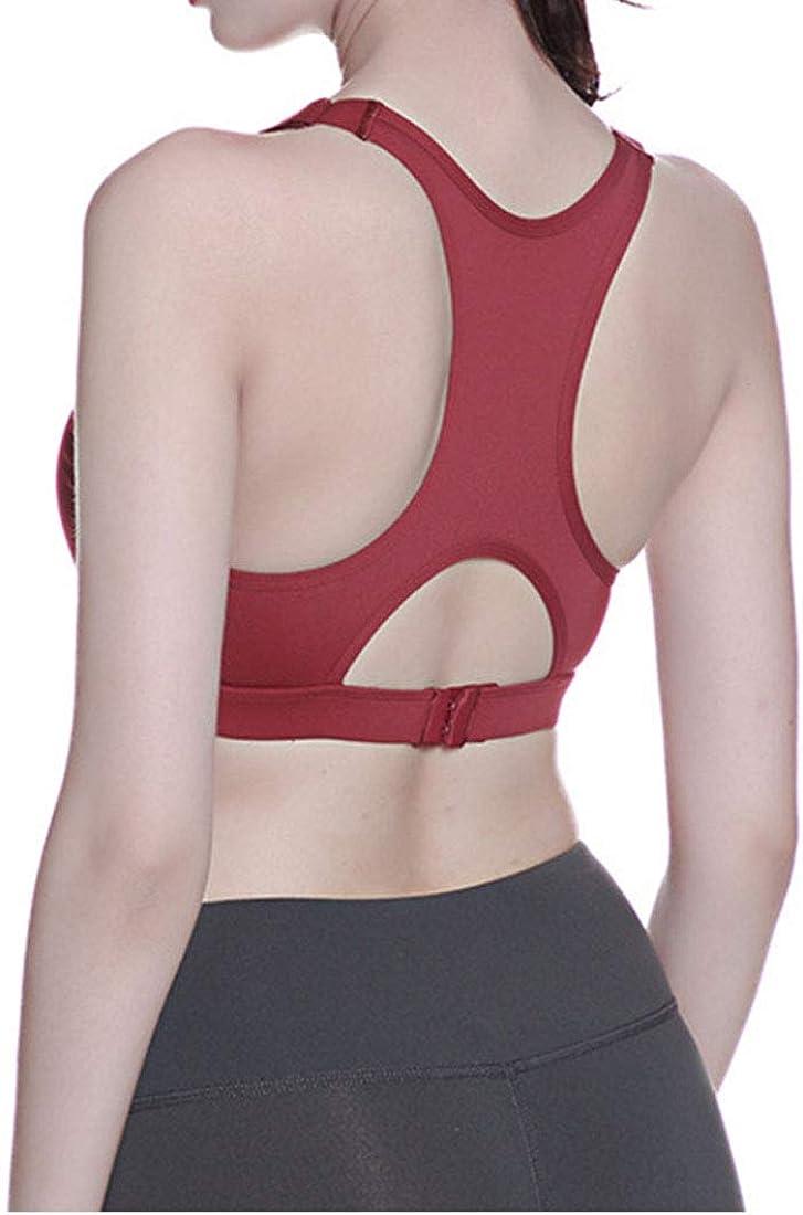 goldenharvest GH Womens Push Up Yoga Bra Activewear Workout Fitness Removable Padded Racerback Seamless Sport Bra