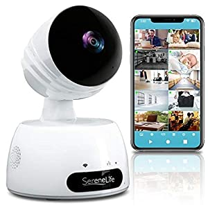 Flashandfocus.com 51kgSsA-HhL._SS300_ SereneLife Indoor Wireless IP Camera-HD 720p Network Security Surveillance Home Monitoring w/ Motion Detection, Night…
