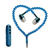 Jewelry Bluetooth Headsets, Fashion Jewelry Pearl Wireless Earphones In-Ear Headphones Noise Cancelling w/Mic Connected to IPOD/IPHONE/Android/BlackBerry/MP3 Play Bluetooth 4.1+EDR (Blue)