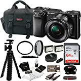 : Sony Alpha ILCE-6000L/B a6000 Digital Camera with 16-50mm Lens Bundle with Accessory Bundle (Black)
