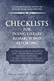 Checklists for Doing Library Research and Reporting, Daniel Chung S. Cheng, 1441533559