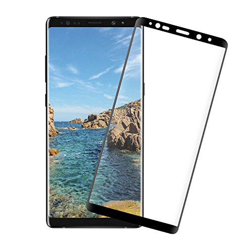 Galaxy Note 8 Screen Protector, 9H Hardness 3D Curved Edge Japan Tempered Glass HD , Anti-Scratch, Bubble-Free Glass Screen Protector for Galaxy Note 8 Easy Install [Black]