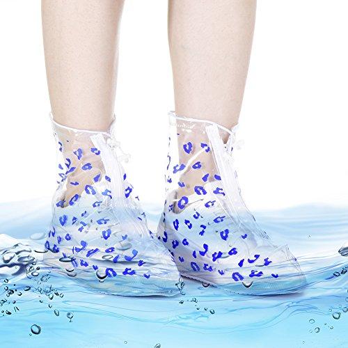 Jaune Antidérapant De Chaussures Pluie Portable Femme Couvertures Pour Yeshi Imperméables Imprimé Bottes Léopard wqFRx7X