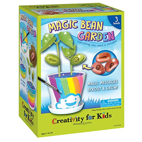 Creativity for Kids Magic Bean Garden, Reveal & Grow Magic Messages - Nature & Garden Kit For Kids (Life Cycle Of A Bean Plant For Kids)