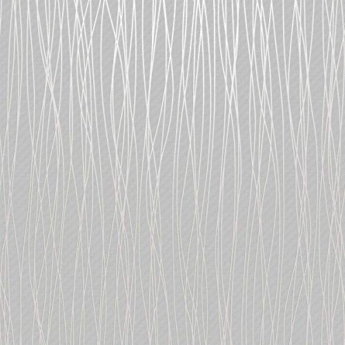 Stripe Wallpaper Modern (Mavee Non-Woven 3D Wallpaper, Print Embossed, White Modern Stripe Fashion Wallpaper for Livingroom, Bedroom, Kitchen and Bathroom, (20.8In x 32.8Ft))