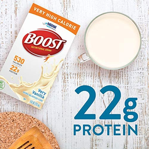 BOOST Very High Calorie Complete Nutritional Drink, Very Vanilla, 8 Ounce Box (Pack of 27) 3