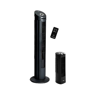 Seville Classics UltraSlimline Tower Fan Combo Pack, Black
