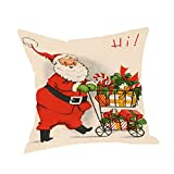 MMLUCK Almohada de sofáFunda de Almohada de algodón con Calcetines navideños