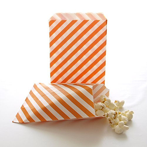 Holiday Costumes In Spain (Halloween Party Bags, Birthday Party Paper Supply Packs, Gift Goodie Bags, Fall Bags, Orange Stripe Bags (25 Pack))