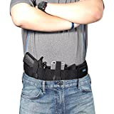 Belly Band Holster for Concealed Carry Waistband Handgun for Pistols Revolvers Glock Men Women by Cosfash