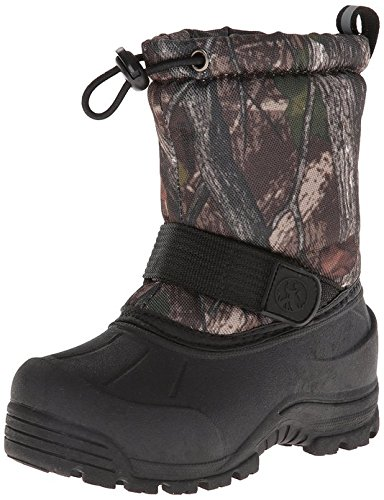 Northside Frosty Snow Boot, Brown Camo, 10 M US Toddler with Matching Mittens - Image 1