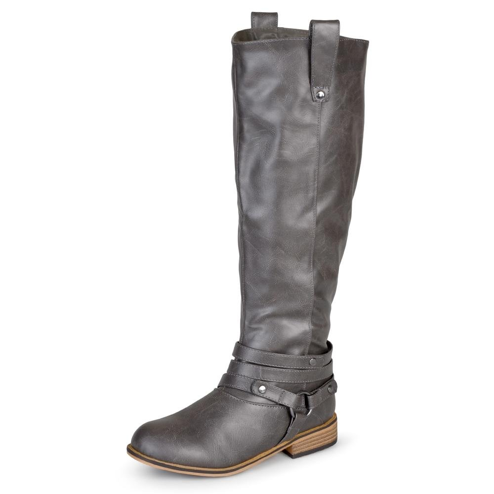 Journee Collection Damen Regelmäßige, Wide-Calf und Extra Wide-Calf Ankle-Strap Ankle-Strap Ankle-Strap Kniehohe Reitstiefel fac79e