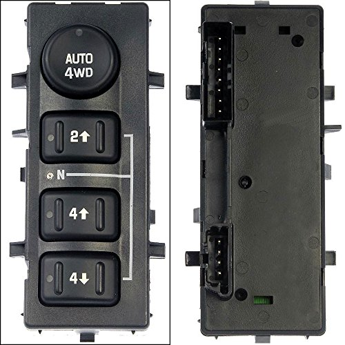 APDTY 012183 4WD 4-Wheel Drive Switch With Auto 4WD Button Fits Select Cadillac Escalade / Chevrolet Avalanche, Silverado, Suburban, Tahoe / GMC Sierra, Yukon (Replaces 19259313, 15136039)