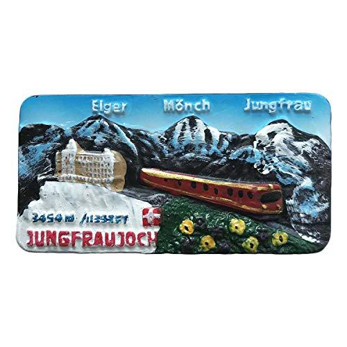 Switzerland Jungfraujoch 3D Refrigerator Magnet Travel Sticker Souvenirs Home & Kitchen Decoration Switzerland Fridge Magnet from China