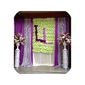 Artificial Rose Silk Flower Heads Wedding Decoration Festive Party Supplies 35