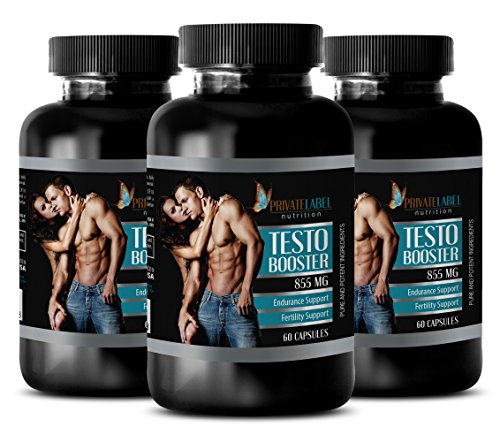 Testosterone booster preworkout - TESTO BOOSTER 855Mg - Natural male enchantment pills - 3 Bottles 180 Capsules