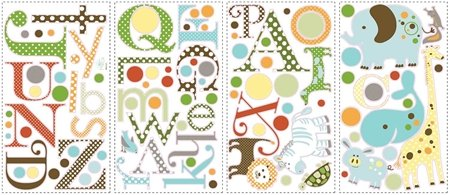RoomMates Animal Alphabet Peel and Stick Wall Decals for sale  Delivered anywhere in USA