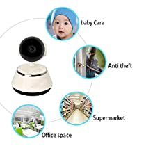 SHY 720P Home Camera PTZ Two-way Audio Chatting Baby Camera WiFi Wireless IP Security Pan Camera with APP White, Easy to Install P2P Indoor, Gift for baby
