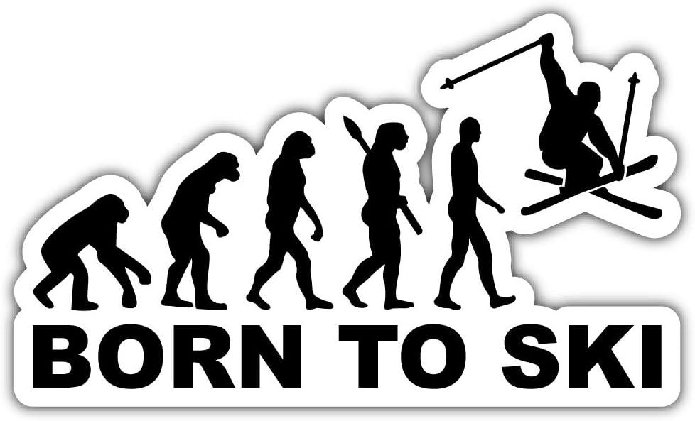 Born to Ski Stunt Evolution Bumper Sticker Vinyl Art Decal for Car Truck Van Window Bike Laptop