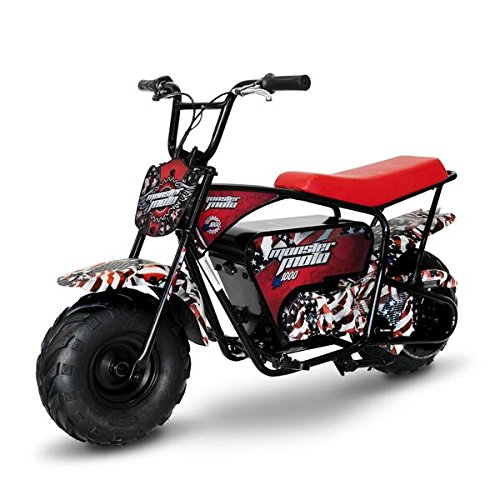 Monster Moto MM-E1000-AF American Flag 1000W Electric Mini Bike (Assembled in the USA),1 Pack by Monster Moto