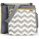 Skip Hop Baby Infant & Toddler Central Park Waterproof Convertible Outdoor Blanket & Detachable Cooler Bag, Multi Chevron