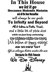 Simply Remarkable in This House We Do Disney - Vinyl Wall Decal Sticker - Made in USA - Disney Family House Rules