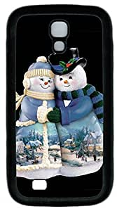 Galaxy S4 Case, Personalized Protective Soft Rubber TPU Black Edge Snow Couple Case Cover for Samsung Galaxy S4 I9500