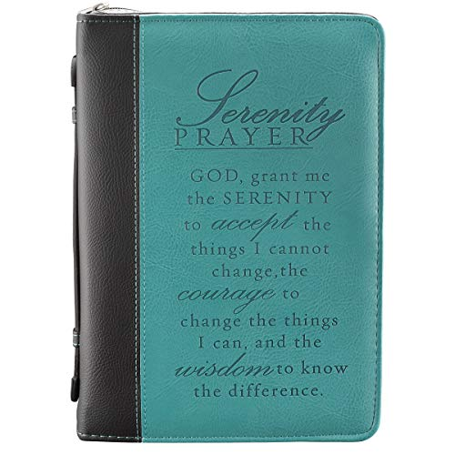 Personalized Prayer Book - Serenity Prayer Two-tone Bible / Book Cover (Large)