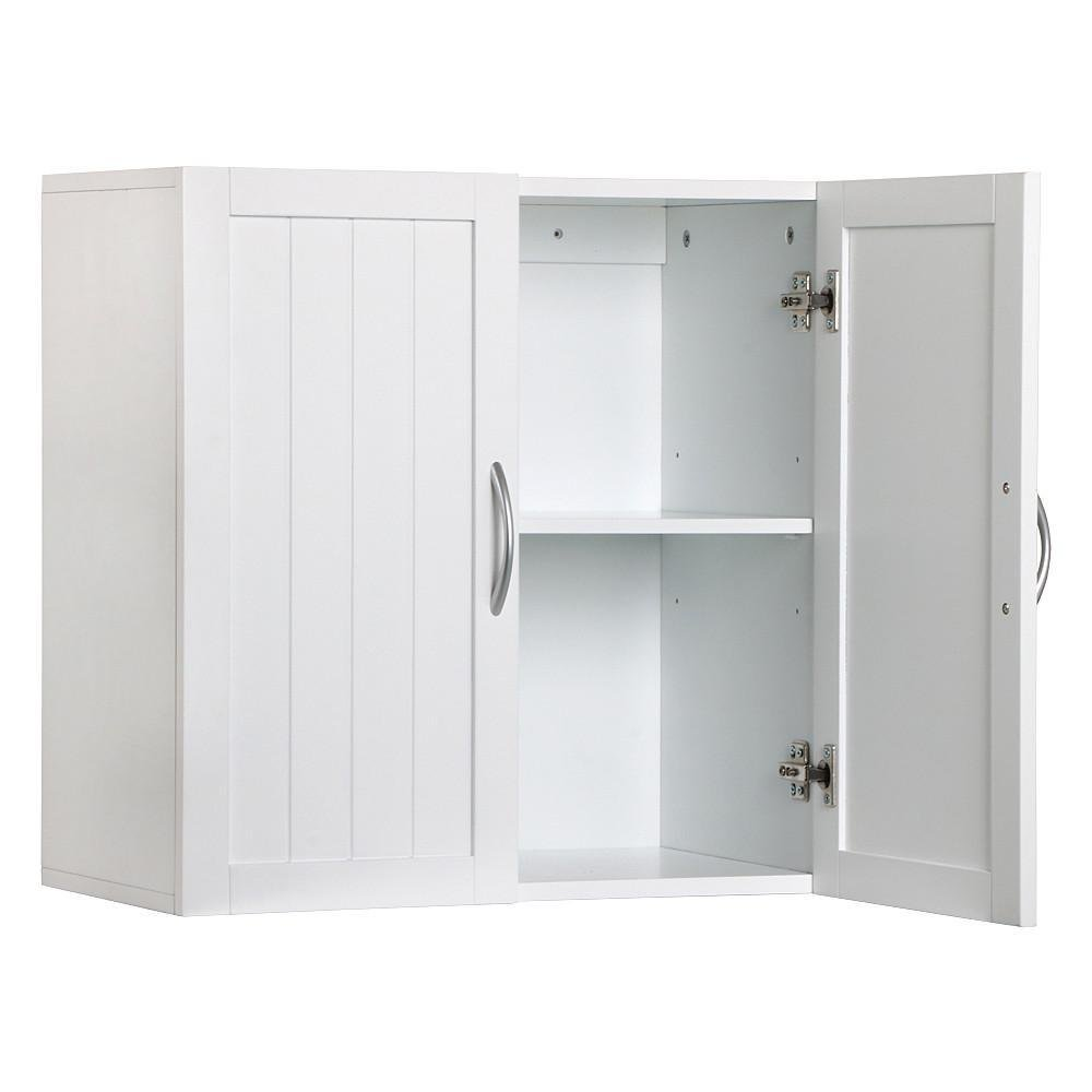 Topeakmart Home Kitchen/Bathroom/Laundry 2 Door 1 Wall Mount Cabinet,White,23