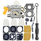 Milttor C1U-H60 Carburetor Carb Kit Adjustment Tool Fit 26cc 30cc 308054013 308054004 308054008 308054012 Ryobi Homelite Ridgid RY09701 Leaf Blower Brushcutter Trimmer