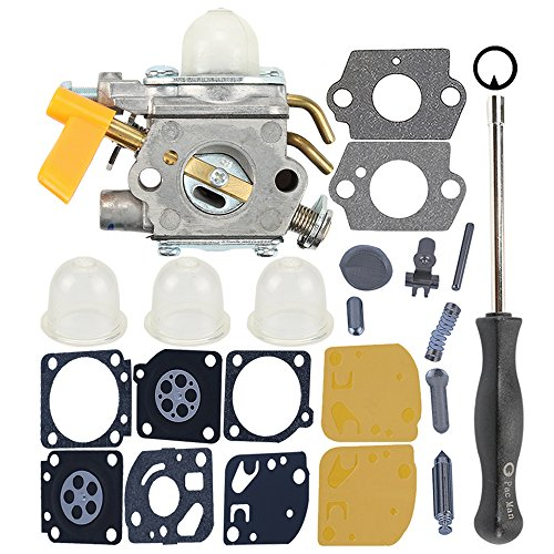 Milttor C1U-H60 Carburetor Carb Kit Adjustment Tool Fit 26cc 30cc 308054013 308054004 308054008 308054012 Ryobi Homelite Ridgid RY09701 Leaf Blower Brushcutter Trimmer by Milttor