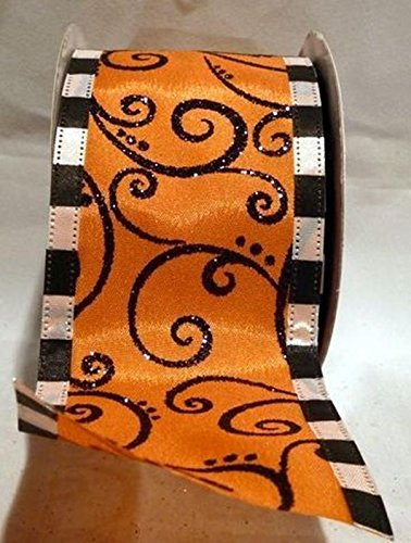 Reliant Ribbon Halloween Swirl Mix We Fabric Ribbons, 2.5