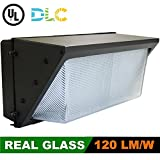 100W LED Wall Pack (300-400 Watt HPS/HID Replacement) 5000K (Daylight), Commercial Grade, Glass Lens, Outdoor Lighting Fixture, UL Listed DLC Qualified