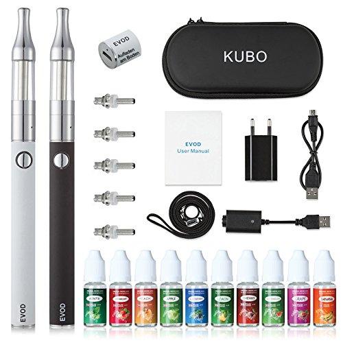 E Zigarette Starterset Elektronische Zigarette/ E Shisha Doppelset: 2x EVOD 1100mAh Akku+2x Mini Protank Verdampfer+5x…