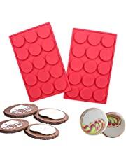 Kitchen Baking Set Silicone Waffle Mold Cake Mold Square Shape Heart Shape Set of 2 Red Color …
