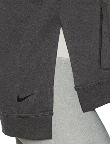 Heathr charcoal Gris Po Dry black Versa Nike Sudadera Mujer 70FwPPq
